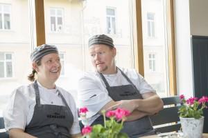 Nya Annas Hembageri i Stadsparken, Mariefred. Anna och Robert Schweitz. Foto: Sofia Marcetic